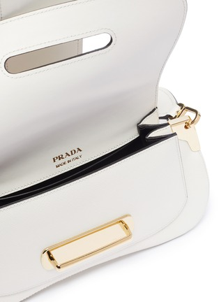 Detail View - Click To Enlarge - PRADA - 'Sidonie' leather saddle bag