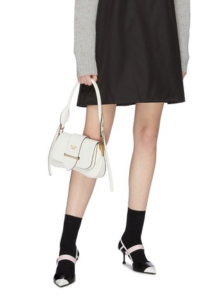 Front View - Click To Enlarge - PRADA - 'Sidonie' leather saddle bag