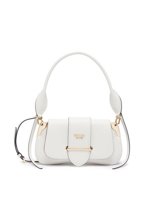 Main View - Click To Enlarge - PRADA - 'Sidonie' leather saddle bag