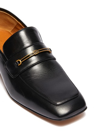 - GUCCI - GG horsebit leather step-in loafers