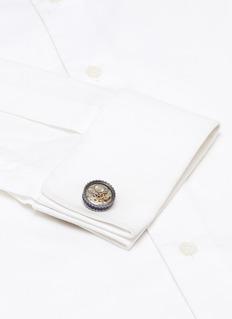 Tateossian Skeleton gear cufflinks