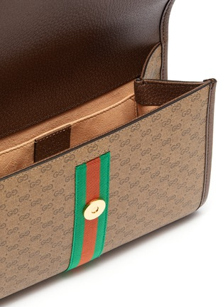 Detail View - Click To Enlarge - GUCCI - 'Rajah' tiger medium GG canvas shoulder bag