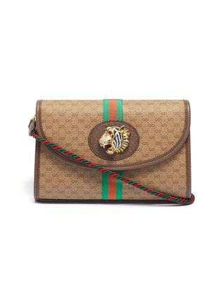 Main View - Click To Enlarge - GUCCI - 'Rajah' tiger medium GG canvas shoulder bag