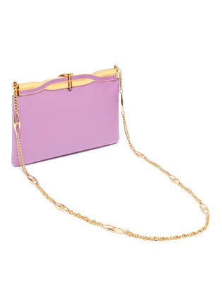 Detail View - Click To Enlarge - GUCCI - 'Broadway' twisted GG clasp leather evening clutch