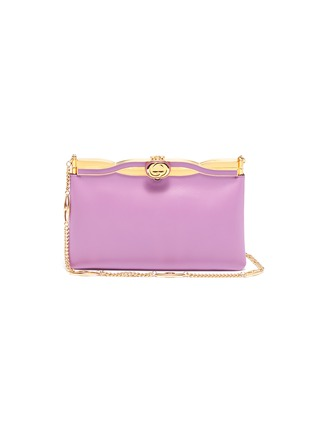 Main View - Click To Enlarge - GUCCI - 'Broadway' twisted GG clasp leather evening clutch