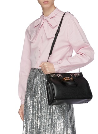 ee08a49a4 Figure View - Click To Enlarge - GUCCI - 'Zumi' small leather top handle