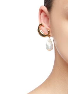 Chloé 'C' freshwater pearl drop earrings