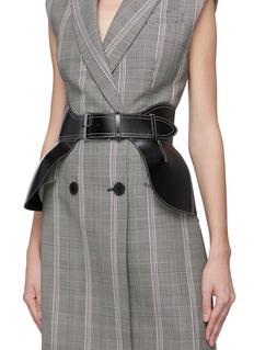 Alexander McQueen Contrast topstitching leather corset belt