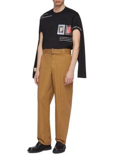 Burberry Slogan photographic print cutout oversized long sleeve T-shirt