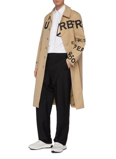 Burberry Horseferry print gabardine car coat