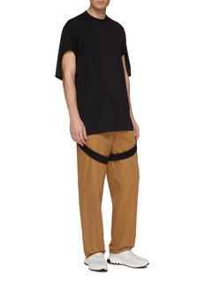 Burberry Snap button leg strap cutout oversized T-shirt