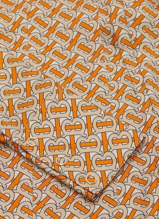 baeb1a4d03614 Burberry - Monogram print silk twill pussybow blouse