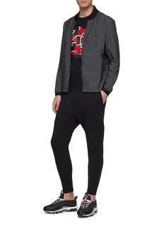 Nike Grid print bomber jacket