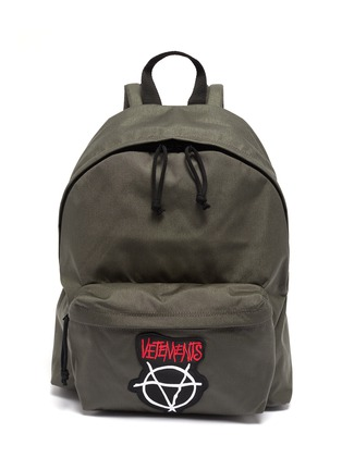 Main View - Click To Enlarge - VETEMENTS - 'Anarchy' logo appliqué backpack