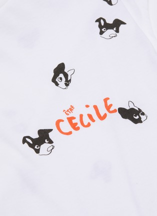 - ÊTRE CÉCILE - 'Dogs All Over' graphic print boyfriend tank top