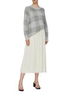 Theory Silk charmeuse skirt