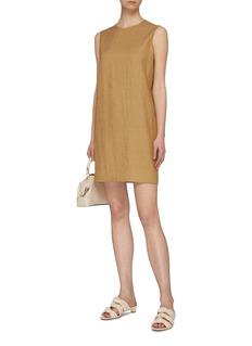 Theory Sleeveless twill mini shift dress
