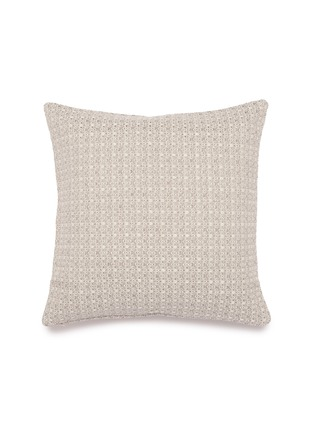 Main View - Click To Enlarge - FRETTE - Luminescent tweed cushion – Silver