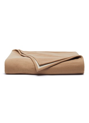 Main View - Click To Enlarge - FRETTE - Double blanket – Camel/Beige