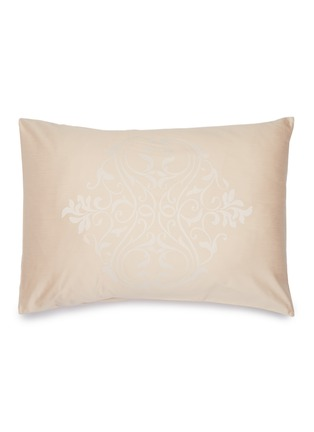 Main View - Click To Enlarge - FRETTE - Medallion heart pillowcase – Powder Pink