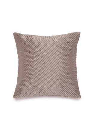 Main View - Click To Enlarge - FRETTE - Herringbone cushion cover – Slate Grey
