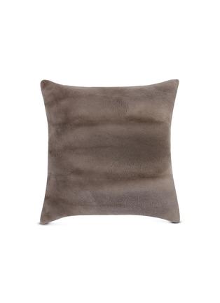 Main View - Click To Enlarge - FRETTE - Mink fur cushion – Slate Grey