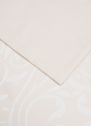 Detail View - Click To Enlarge - FRETTE - Medallion Heart king size duvet set – Powder Pink