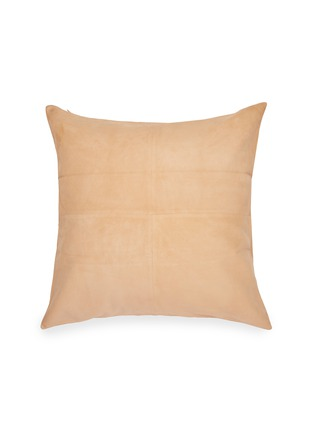Main View - Click To Enlarge - FRETTE - Suede Cushion – Camel
