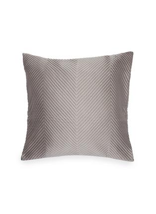 Main View - Click To Enlarge - FRETTE - Luxury herringbone cushion – Slate Grey