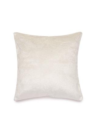 Main View - Click To Enlarge - FRETTE - Shimmer velvet cushion – Silver