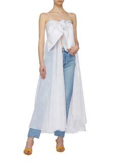 Leal Daccarett 'Conga' knot cutout front dot print maxi dress