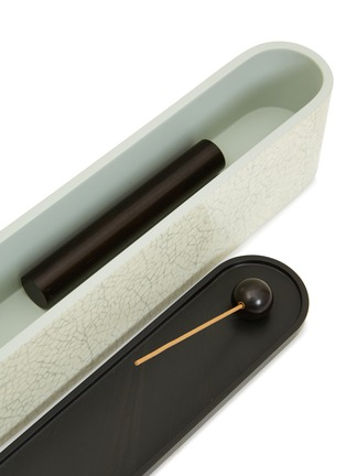 Detail View - Click To Enlarge - SHANG XIA - Lacquered eggshell incense box – White