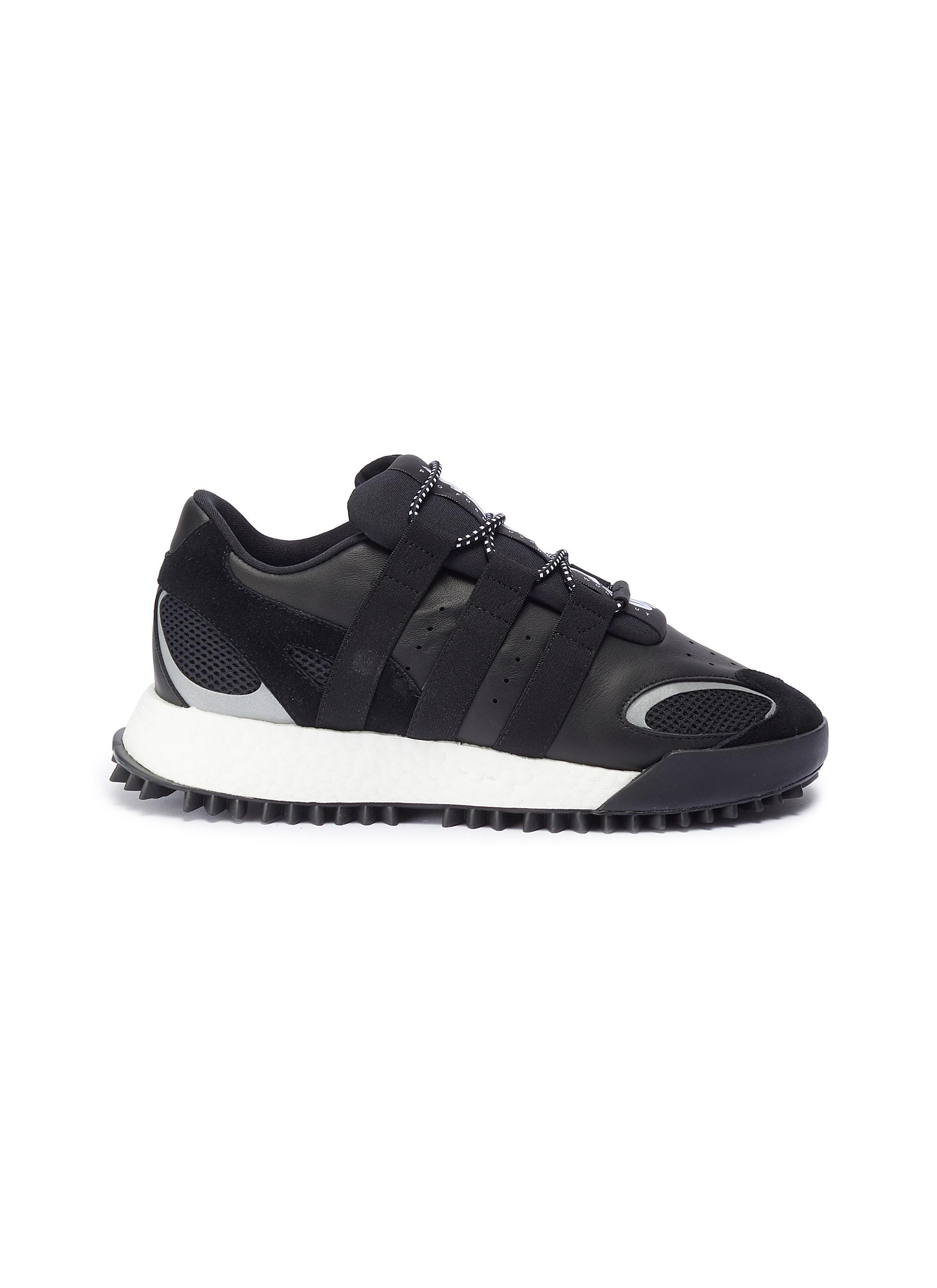 Wangbody Run leather sneakers by Adidas Originals By Alexander Wang