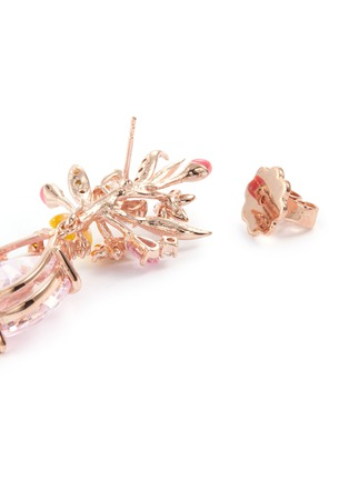 Detail View - Click To Enlarge - ANABELA CHAN - 'Mini Posie' diamond gemstone floral drop earrings