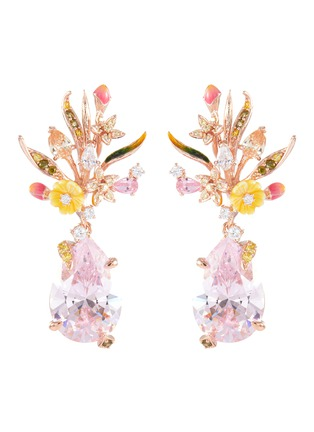 Main View - Click To Enlarge - ANABELA CHAN - 'Mini Posie' diamond gemstone floral drop earrings