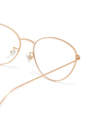Detail View - Click To Enlarge - SUPER - 'Numero 59' metal oval optical glasses