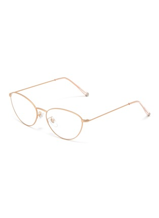 Main View - Click To Enlarge - SUPER - 'Numero 59' metal oval optical glasses