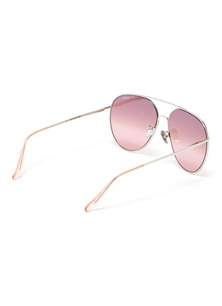 Figure View - Click To Enlarge - SUPER - 'Completo' metal oversized aviator sunglasses