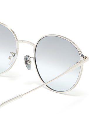 Detail View - Click To Enlarge - SUPER - 'Europa' metal round sunglasses