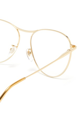 Detail View - Click To Enlarge - SUPER - 'Numero 60' metal oversized round optical glasses