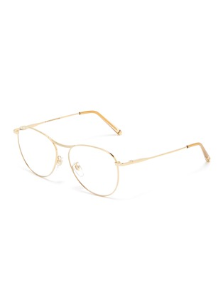 Main View - Click To Enlarge - SUPER - 'Numero 60' metal oversized round optical glasses