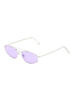 Main View - Click To Enlarge - SUPER - 'Tema' metal small oval sunglasses