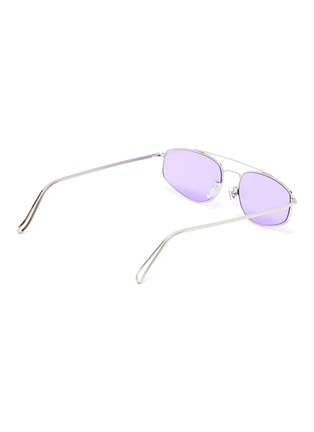Figure View - Click To Enlarge - SUPER - 'Tema' metal small oval sunglasses
