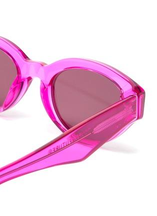 Detail View - Click To Enlarge - SUPER - 'Drew' acetate narrow cat eye sunglasses
