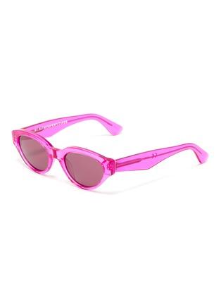 Main View - Click To Enlarge - SUPER - 'Drew' acetate narrow cat eye sunglasses