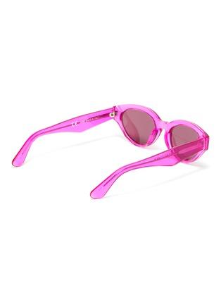 Figure View - Click To Enlarge - SUPER - 'Drew' acetate narrow cat eye sunglasses