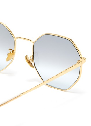 Detail View - Click To Enlarge - SUPER - 'Sagoma' metal oversized octagonal frame sunglasses