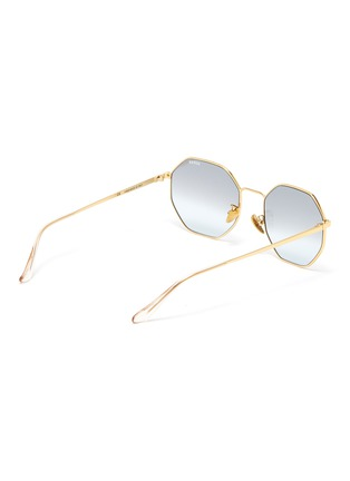 Figure View - Click To Enlarge - SUPER - 'Sagoma' metal oversized octagonal frame sunglasses