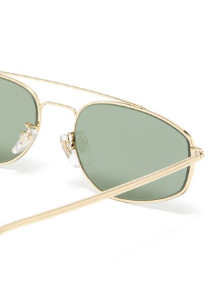 Detail View - Click To Enlarge - SUPER - 'Tema' metal small oval sunglasses