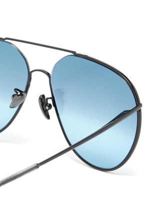 Detail View - Click To Enlarge - SUPER - 'Completo' metal oversized aviator sunglasses